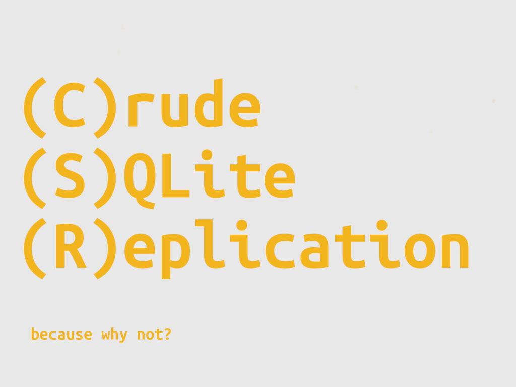 Two Node SQLite Sync